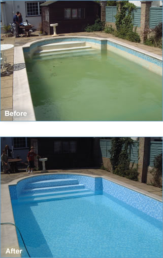 Green to clean cleaning service for Swimming pool liners wholesale