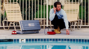 A trained leak detection specialist will be out to your Sacramento Swimming pool in just moments from your call to us.